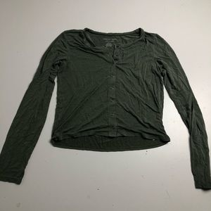 American Eagle Soft & Sexy Crop Top Long Sleeve